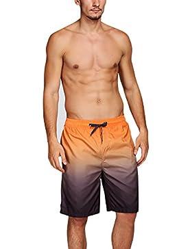 [Patrocinado]Dolamen Bañador de Natación Boxer para Hombre, Hombre Bañador Traje de Baño Pantalones Cortos Playa Piscina, Con...