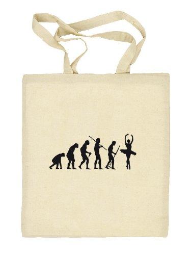 Shirtstreet24, EVOLUTION BALLETT, Ballerina Stoffbeutel Jute Tasche (ONE SIZE) Natur