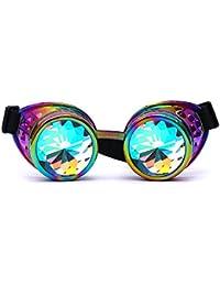 Sunenjoy Kaléidoscope Glasses Lentille Coloré Rave Prisme Kaléidoscope  Cristal Diffraction EDM Lunettes ... ff897e9465e4