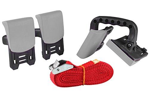 kwb KRAFTIXX Tragehilfe Set - 3 m Tragegurt inkl. 2 Haltegriffe für einfaches Transportieren schwerer Möbel beim Umzug