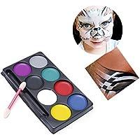 exing Pintura al óleo malsets , 8colores Cuerpo cara de producto Kit de Make Up pintura pigmento para vestido de noche fiesta