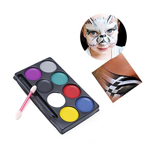 Exing Ölfarbe Malsets,8 Farben Körper Gesicht Farbe Kit Kunst Make-up Malerei Pigment Abendkleid Party (Schwarz Gesicht Malen Kostüm)