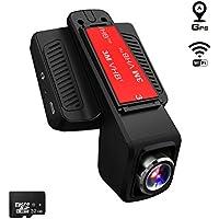 TOGUARD Caméra de Voiture GPS WiFi Grand Angle de 170° Caméra Embarquée Full HD 1080P, Dashcam Voiture avec Objectif Réglable Écran 2.45 Pouces IPS LCD 32 Go Carte MicroSD Inclus