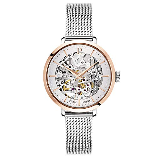 pierre lannier womens analogue automatic watch with solid stainless steel strap 312b628