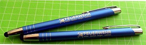 Preisvergleich Produktbild Kugelschreiber TouchPen Feuerwehr Blau 2 Stk