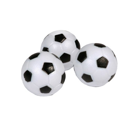 Hathaway Soccer Ball Style Foosballs (Pack of 3), Black/White