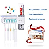 MECO Toothbrush Holder Toothpaste Dispenser UV Toothbrush Sterilizer Wall Mounted Toothpaste Squeezer