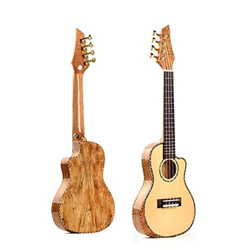 LFDYKLL hochwertige Ukulele Top Panel Massivholz Fichte Reise Ukelele Cant Hand Design Hawaii Gitarre Saiten Muisc Instrument -