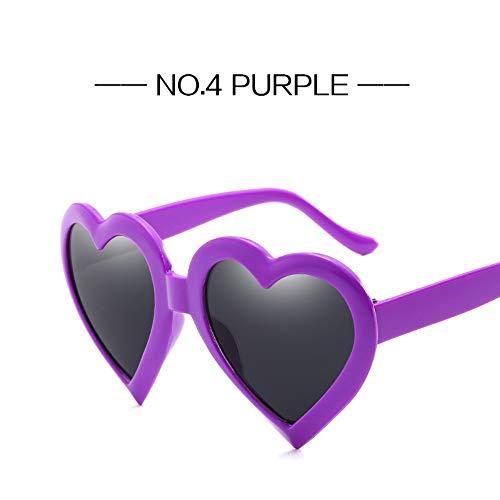 ZHOUYF Sonnenbrille Fahrerbrille Retro Herz Sonnenbrille Frauen Fashon Markendesigner Schöne Geformte Sonnenbrille Weibliche Schwarz Rot Rosa Gläser, D