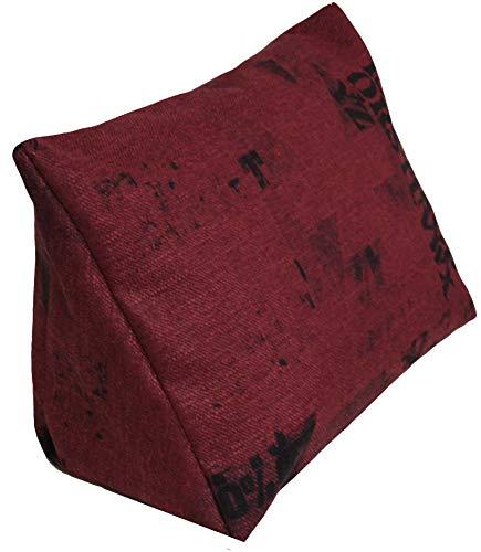 XXL-Keilkissen Keila Cedros, Sofa-Kissen, Rückenstütze, Deko-Kissen, Kinder-Kissen, Relax-Kissen, Paletten-Kissen in der Größe 94 x 64 x 42 cm in rot-schwarz, mit Schaumstoffflocken-Füllung (Schwarz Und Rot-sofa-kissen)