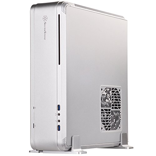 SilverStone SST-FTZ01S - Fortress High-End Mini-ITX Gaming HTPC Gehäuse, silber