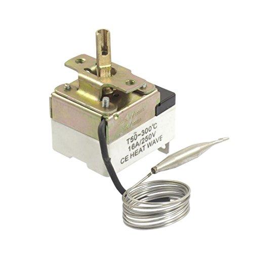 DealMux 1NC 1NO AC 250 16A 50-300C Temperaturschalter Kapillarthermostat -