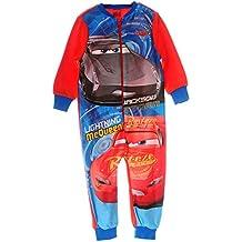 Pyjama Cars Kinder Schlafanzug Overall Strampler Rei/ßverschluss