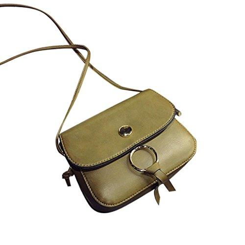 BZLine® Frauen Leder Quaste Handtasche Crossbody Messenger tasche, 18cm *15cm *5cm Grün