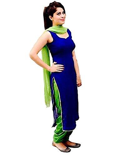 FenaPrime Women\'s Blue Cotton Dress Material FP1116