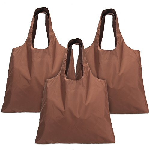 Luxja Bolsa Compra Plegable, Bolsas para Comprar Reutilizables, Bolsa Durable para Comprar Bolsa de Tela para Compras (3 Piezas)