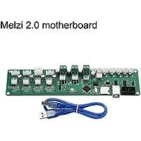 ROKOO Tablero de Control Tarjeta PCB Melzi 2.0 Tarjeta Madre ATMEGA con Kits de Pantallas 2004 para Impresora 3D