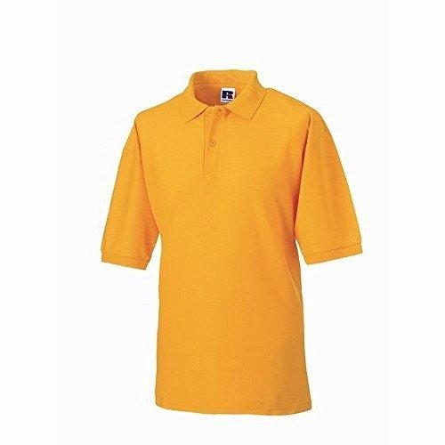 Russel Herren Klassik Kurzarm Polycotton Polo Shirt Gold