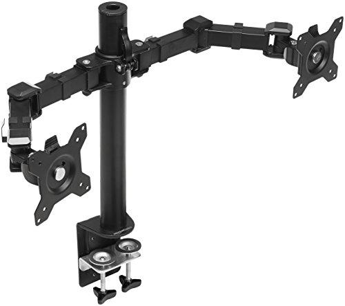 AmazonBasics Ständer für 2 Monitore, Höhenverstellbar, Stahl