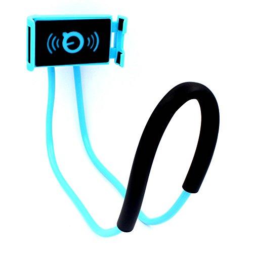 ZREAL Halterung für Handy Schutzhülle flexible Halterung für Handys A hängende Hals faul für iPhone Xiaomi Huawei blau -