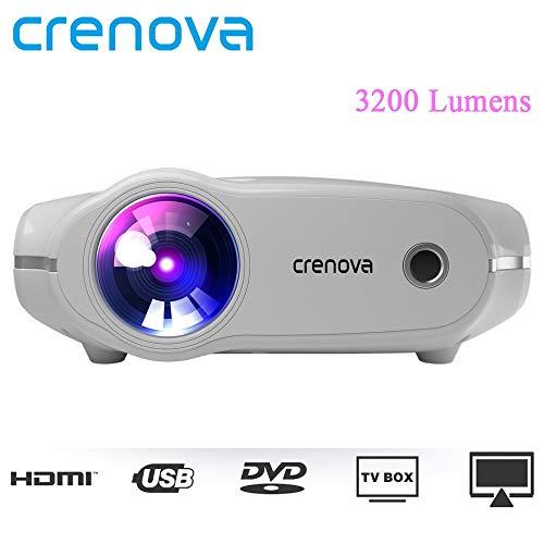 Crenova XPE498 Tragbare Projektor Für Volle HD 4 Karat * 2 Karat 3200 Lumen Home Theater Film Beamer Android 7.1.2OS Proyector