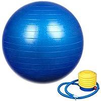 SAMPLUS MALL (LABEL) Shreeji Ethnic Exercise Non-Slip Stability Ball with Pump (75 cm , Blue)