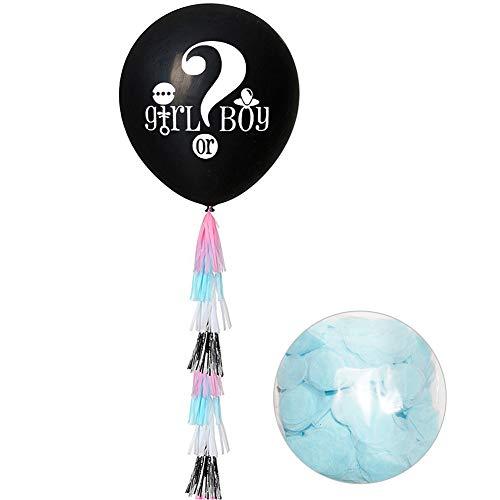 Matedepreso Gender Reveal Kit Cute Baby Shower Boy Or Girl Balloon Confetti Set Decorations(Blue)