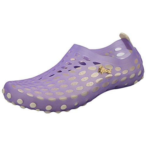 YOUJIA Unisexe Respirant Léger Plage Sandales Sabots été Jardin Pantoufles Chaussures décontractées Violet