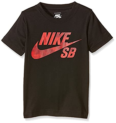Nike SB Shadow Icon - T-Shirt Garçon, Noir (Black) -