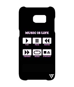 Vogueshell Music Is Life Printed Symmetry PRO Series Hard Back Case for Samsung Galaxy S7