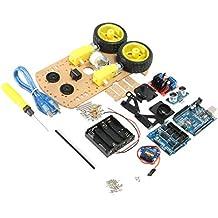 Almencla DIY L298N 2WD Ultrasónico Inteligente Robot Moteur Coche de Arduino Componentes Electrónicos Ensayo Elétrico