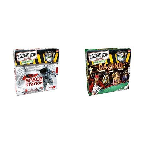 Noris 606101642 Escape Room Erweiterung Space Station, nur mit dem  Chrono Decoder Spielbar &  606101641 Escape Room Erweiterung Casino, nur mit dem Chrono Decoder Spielbar