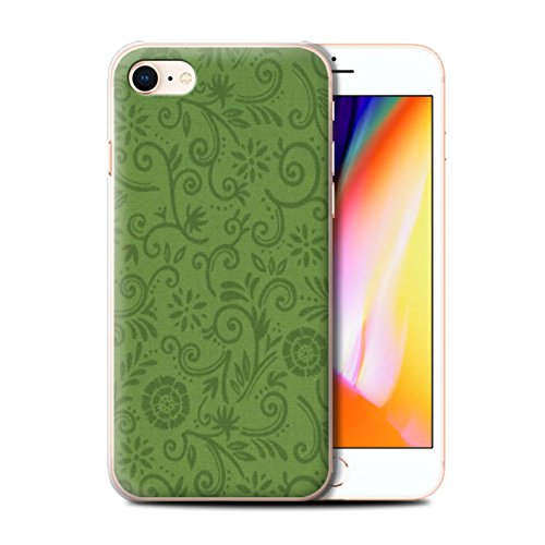 Stuff4 Hülle / Case für Apple iPhone 8 / Pack (5 Pcs) / Floral Strudel-Muster Kollektion Green Flower