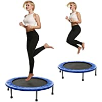 begorey fitness Sport Trampolin Faltbar Gartentrampolin bis 150 kg jump Trampolin Garten/Indoor Ausdauertraining Trampolin Durchmesser: 102cm