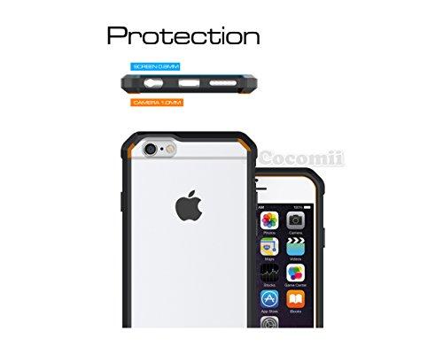 iPhone 6S / 6 Hülle, Cocomii Modern Armor NEW [Crystal Clarity] Premium HD Clear Anti-Scratch Shockproof Hard Bumper Shell [Slim Fit] Full Body Ultra Thin Lightweight Transparent Cover Case Schutzhüll Black