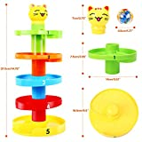 Peradix Baby Educational Toys for 1 2 Year Old Boy Girl Toddlers Swirl Ball Ramp Ball Drop Toys Puzzle Rolling Ball Tower Bell Stacker for Kids Activity Center Games