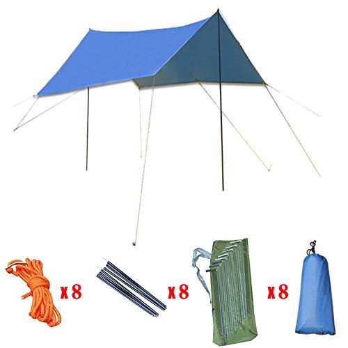 Tfgy gazebo da giardino,tendone per feste,tela incatramata da campeggio esagonale impermeabile leggero, anti uv sun shelter,blue