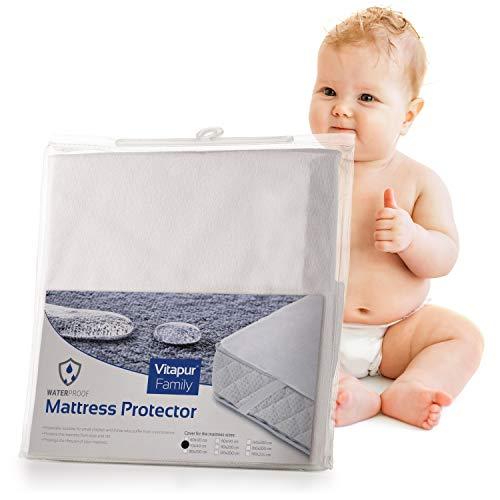Wasserdichter Matratzenschoner Betteinlage, Matratzenauflage 70x140 für Kindermatratze - Nässeschutz für Kinderbett - Schadstoffgeprüft nach Öko-Tex Standard 100 - Matratenschutz aus Baumwolle