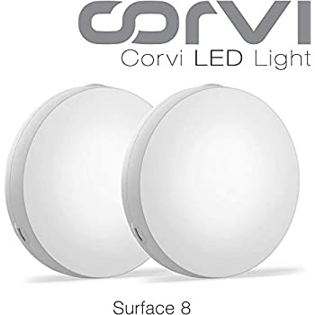 Corvi LED Panel Light - 20 Watts - Surface 8 (White - Pack of 2)