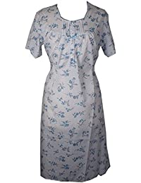 f0a9791693 Ladies Poly Cotton Nightdress   Nightie White With Pink or Blue Floral  Design. Sizes