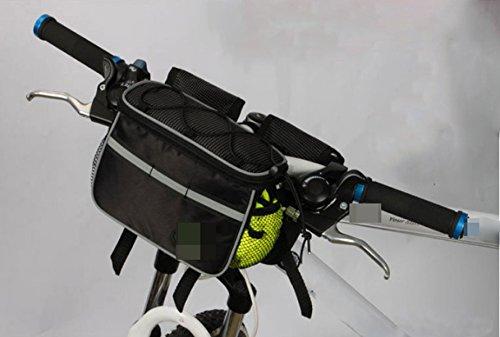 OGTOP Mountainbike Wasserdichte Tasche Satteltasche Handy Werkzeug Regenmantel Zipper Black