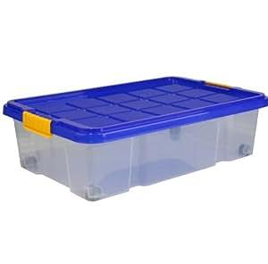 aufbewahrungsbox unterbettbox mit rollen und deckel 28 liter k che haushalt. Black Bedroom Furniture Sets. Home Design Ideas