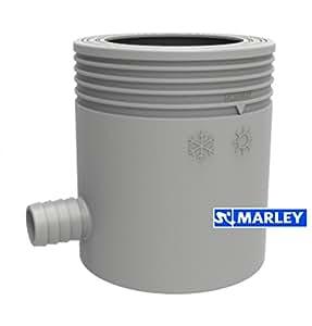 marley regensammler mit filter und berlaufstop dn 53 75mm grau baumarkt. Black Bedroom Furniture Sets. Home Design Ideas