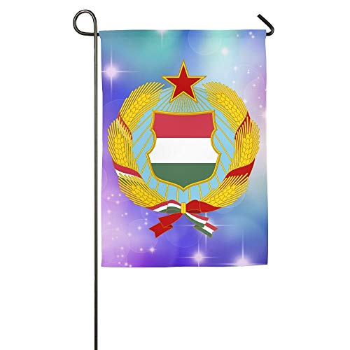WEERQ Coat of Arms of Hungary (1957-1990) Floral Garden Yard Banner for Outside House Flower- Best for Party Yard and Home Outdoor Decor -