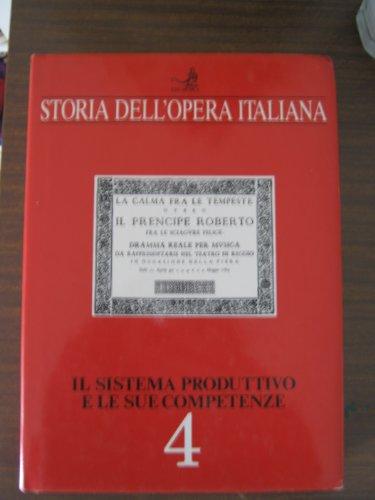 Storia dell'Opera Italiana Il sistema produttivo e le sue competenze