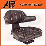 PVC Waterproof Black Seat with Back Rest Mini Digger Excavator Roller Dozer