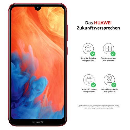 """Huawei Y7 2019 - Smartphone de 6.26"""" (RAM de 3 GB, Memoria de 32 GB, Dual Nano, 4000 mAh, Cámara de 13 MP, Android 9) Rojo [Exclusivo Amazon]"""