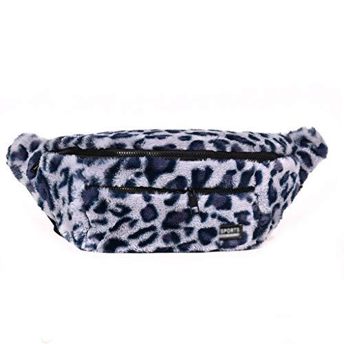 WYXYB cangurera Bolso de cintura, bolso de pecho, otoño e invierno, nueva piel bolso de hombro, bolso, bolso, personalidad, estampado de leopardo, bolsillo, bolsa de deporte super fuego, marea paquete