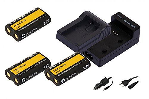 3x-batterie-comme-sanyo-cr-v3-telstar-3en1-chargeur-y-compris-alimentation-par-cable-voiture-chargeu