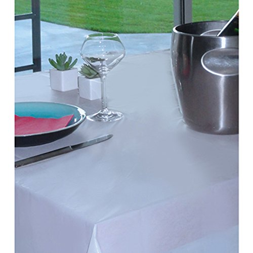 MSV MS316 - Mantel impermeable desechable, 140 x 200 cm, color blanco